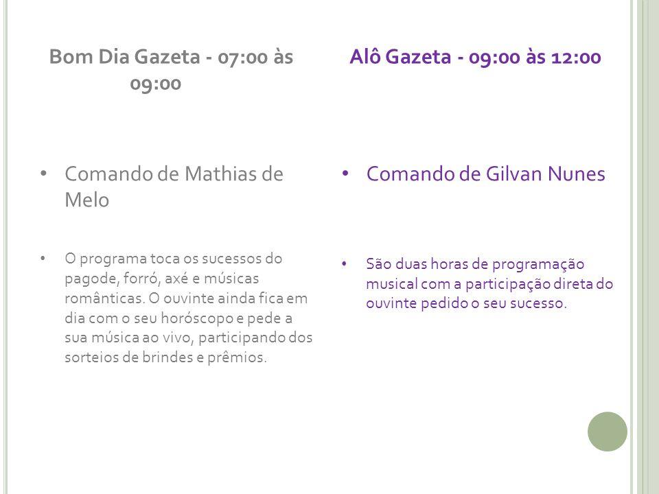 Comando de Mathias de Melo Comando de Gilvan Nunes