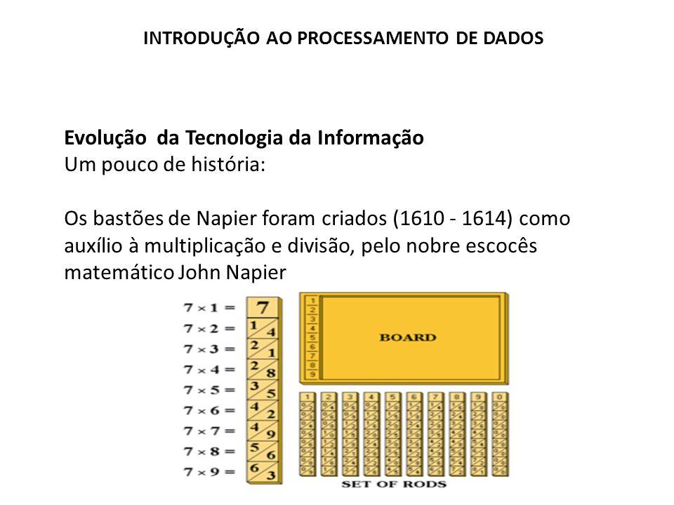 Evolução da Tecnologia da Informação Um pouco de história: