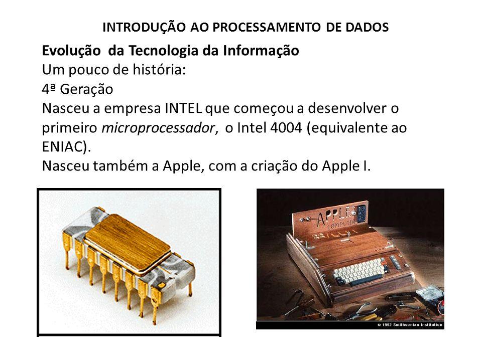 Evolução da Tecnologia da Informação Um pouco de história: 4ª Geração