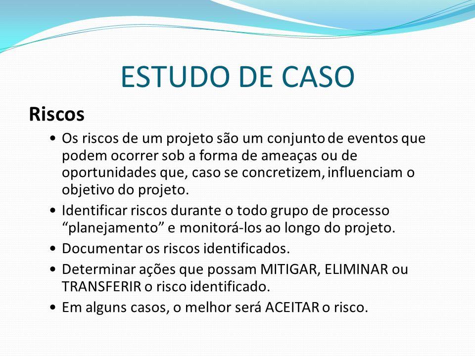 ESTUDO DE CASO Riscos.