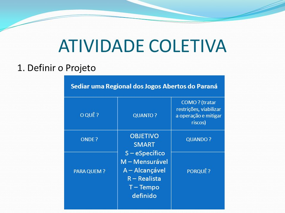 Sediar uma Regional dos Jogos Abertos do Paraná