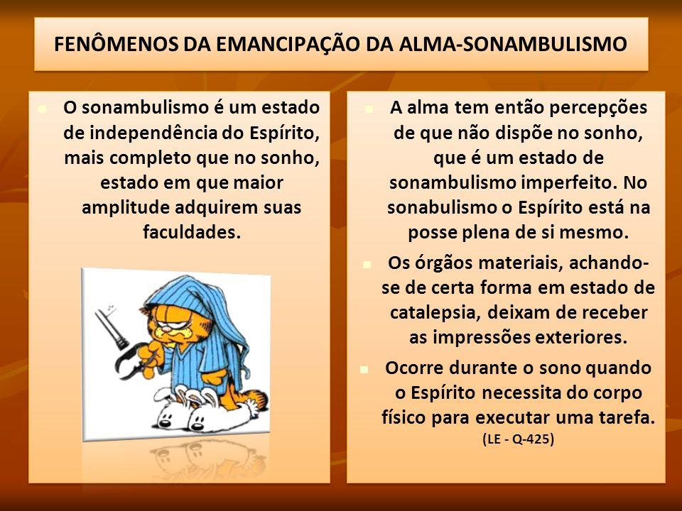 FENÔMENOS DA EMANCIPAÇÃO DA ALMA-SONAMBULISMO