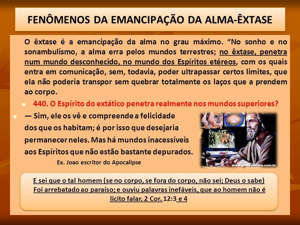 FENÔMENOS DA EMANCIPAÇÃO DA ALMA-ÊXTASE