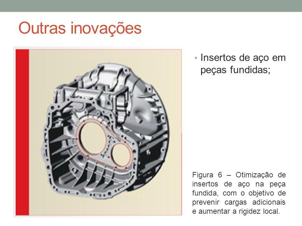 Outras inovações Insertos de aço em peças fundidas;