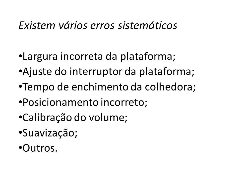 Existem vários erros sistemáticos