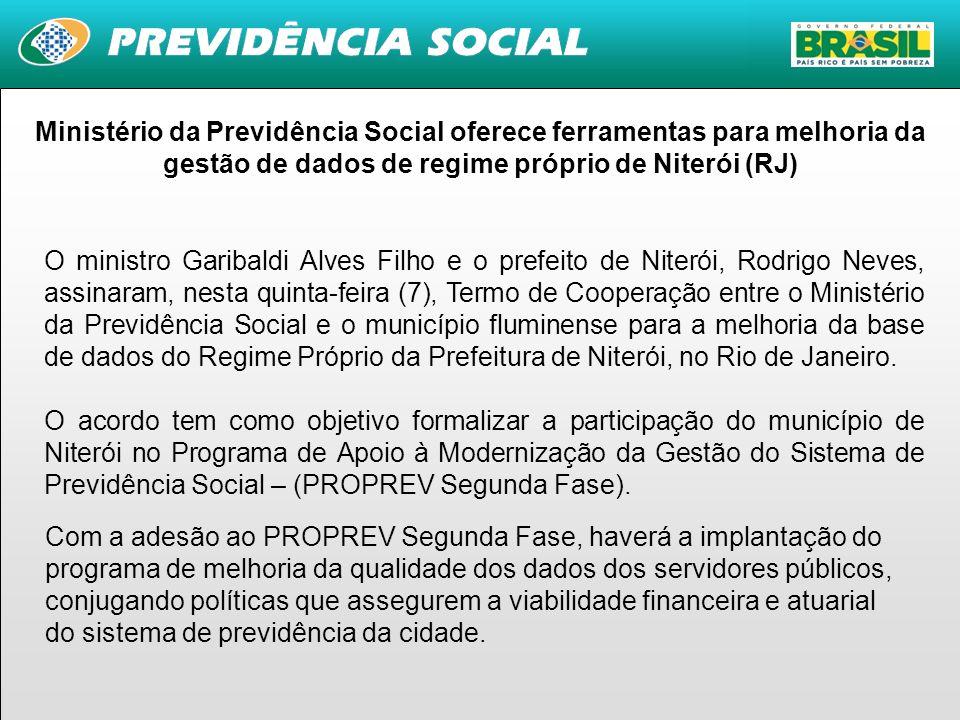 Ministério da Previdência Social oferece ferramentas para melhoria da gestão de dados de regime próprio de Niterói (RJ)