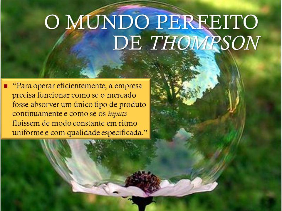 O MUNDO PERFEITO DE THOMPSON