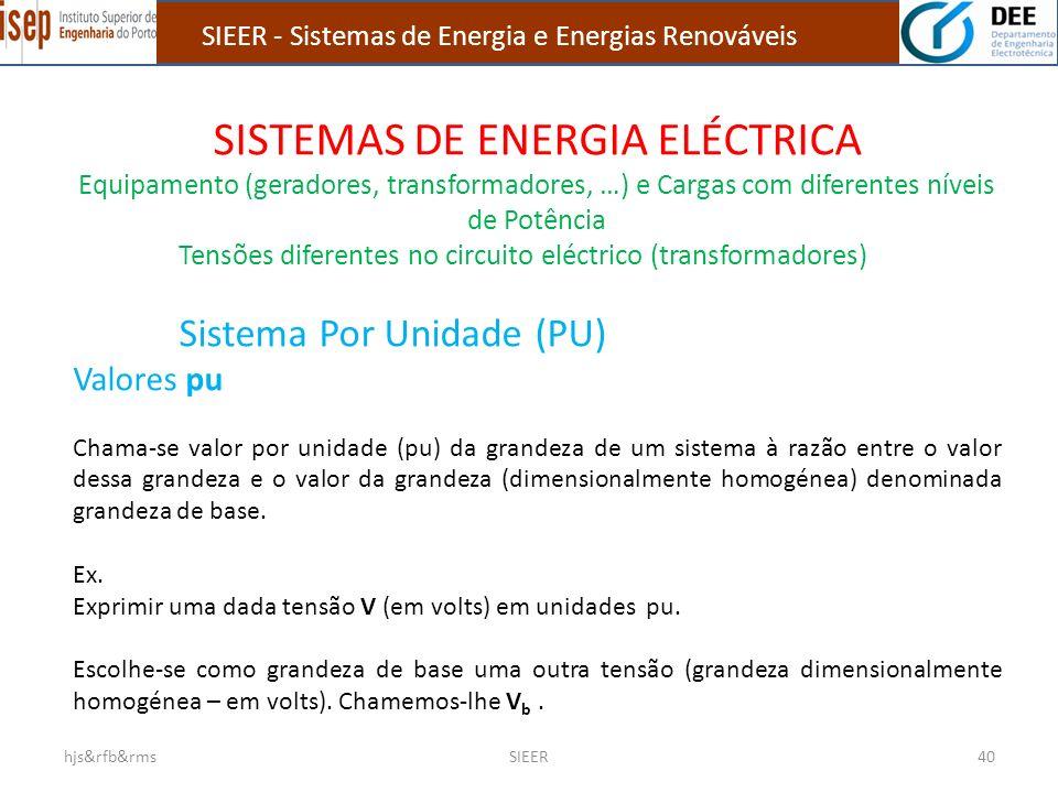 SISTEMAS DE ENERGIA ELÉCTRICA