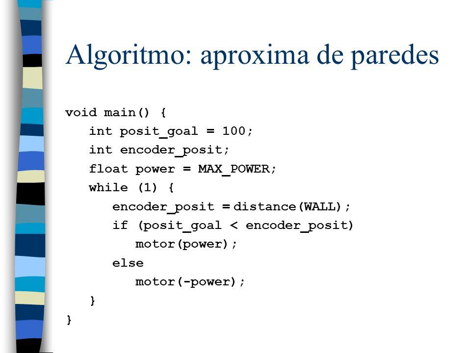 Algoritmo: aproxima de paredes