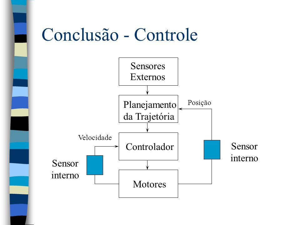 Conclusão - Controle Sensores Externos Planejamento da Trajetória