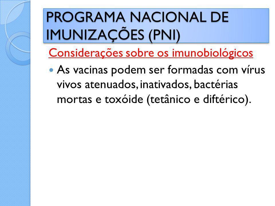 PROGRAMA NACIONAL DE IMUNIZAÇÕES (PNI)