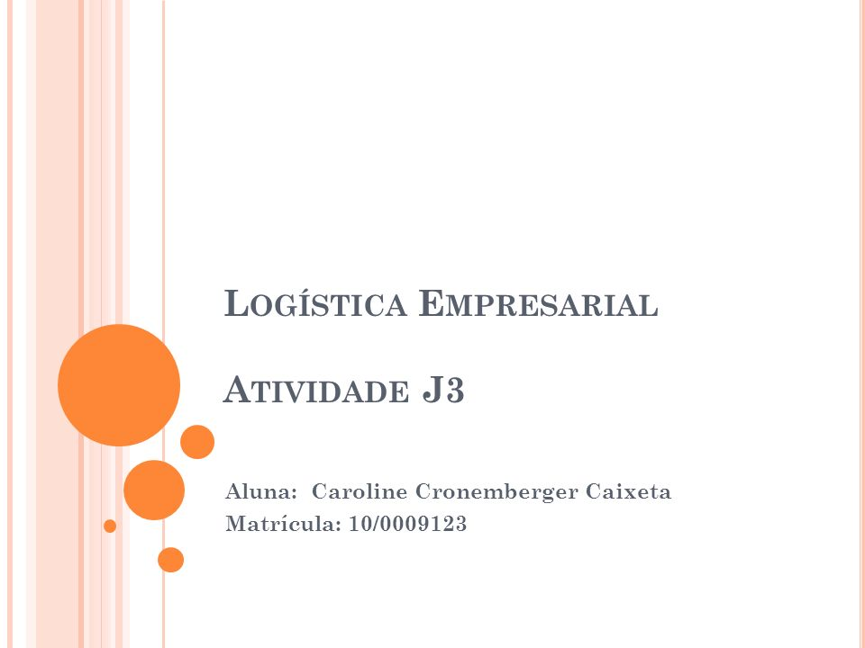 Logística Empresarial Atividade J3
