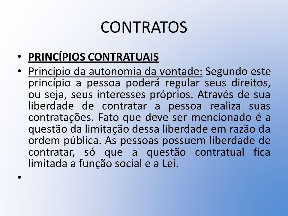 CONTRATOS PRINCÍPIOS CONTRATUAIS