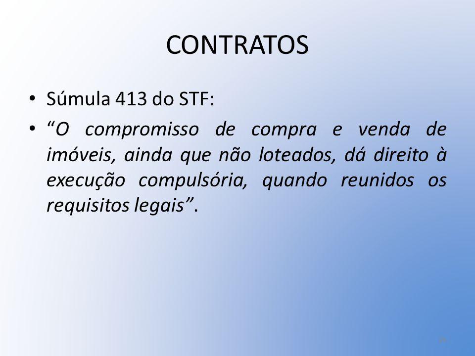 CONTRATOS Súmula 413 do STF: