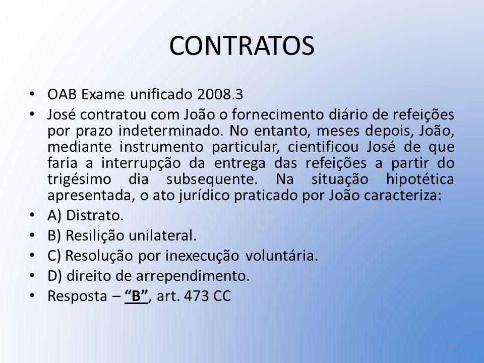 CONTRATOS OAB Exame unificado 2008.3