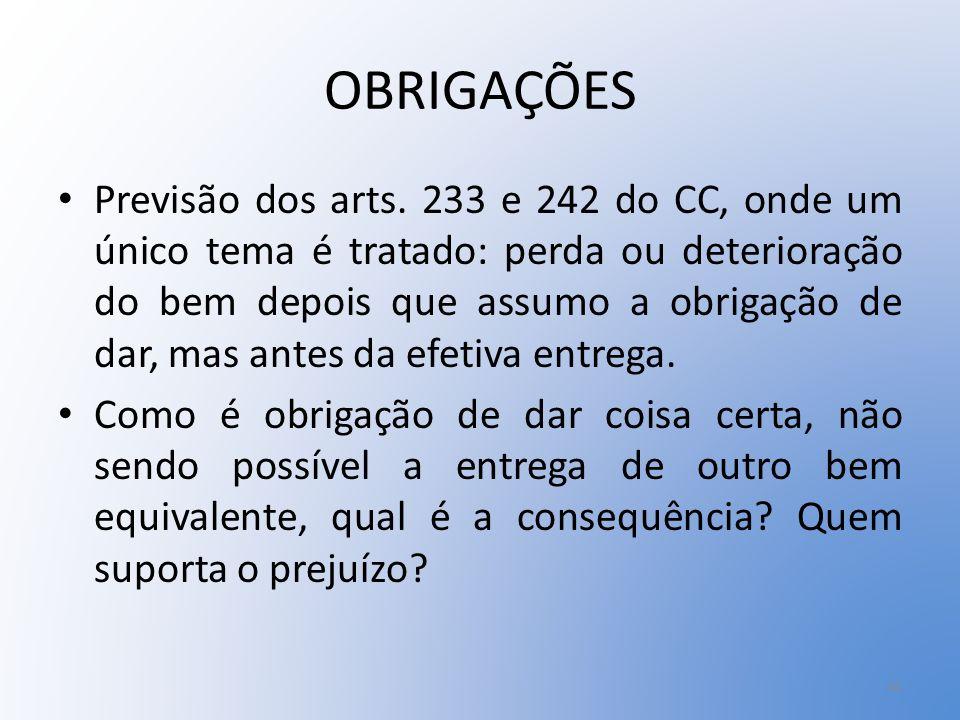 OBRIGAÇÕES