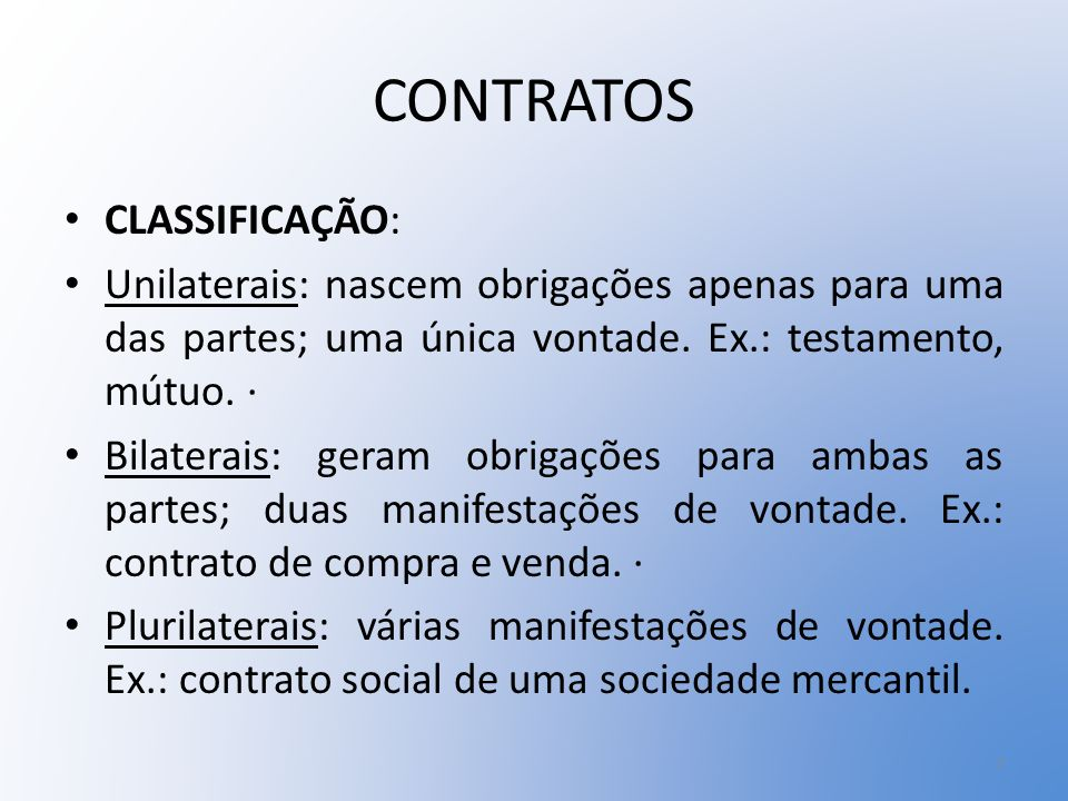 CONTRATOS CLASSIFICAÇÃO: