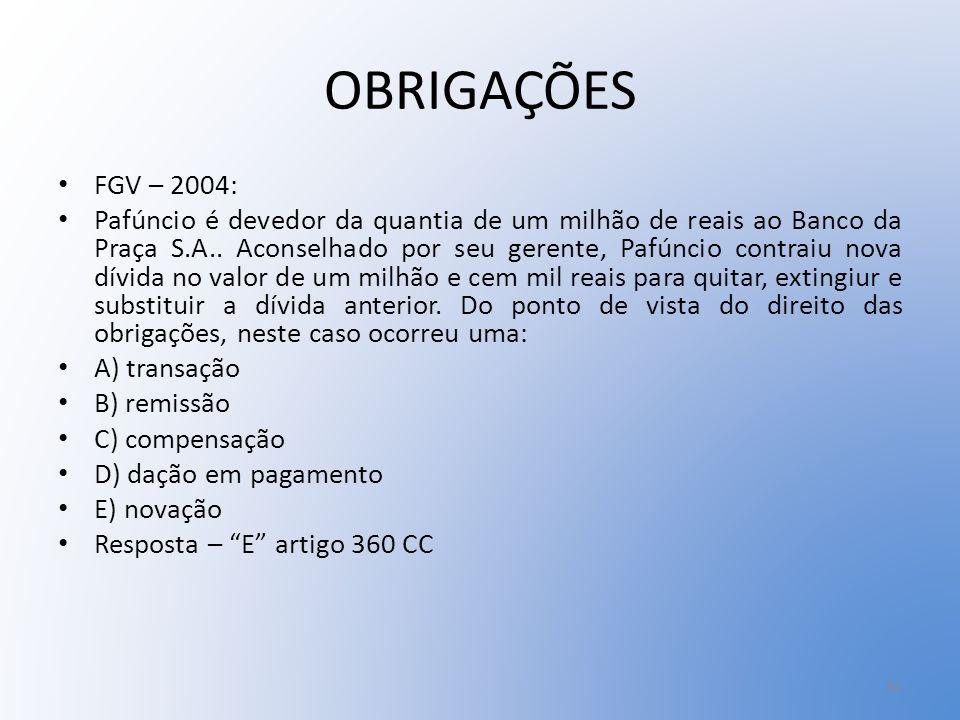 OBRIGAÇÕES FGV – 2004: