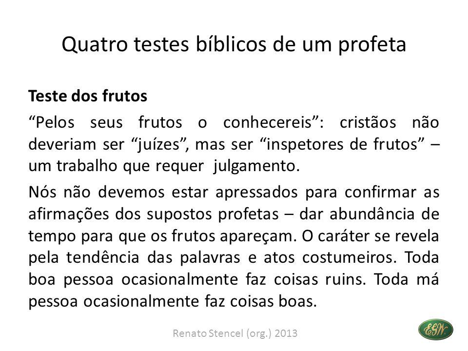 Quatro testes bíblicos de um profeta