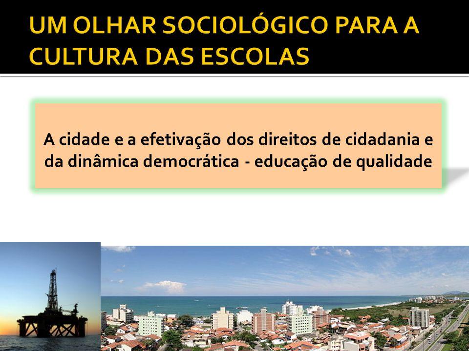 UM OLHAR SOCIOLÓGICO PARA A CULTURA DAS ESCOLAS