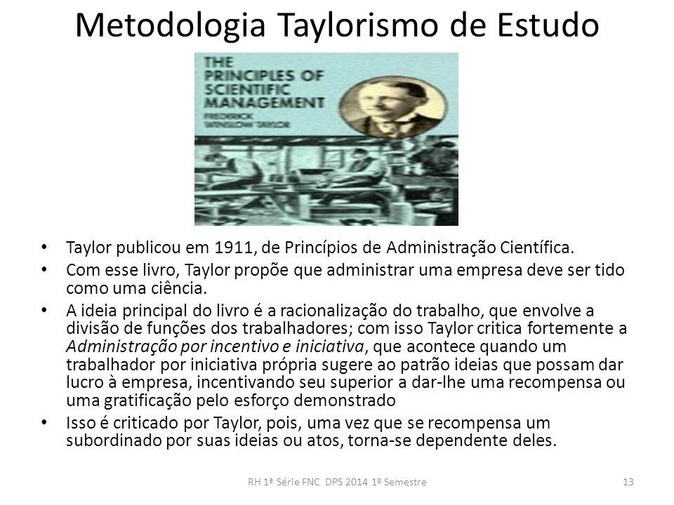 Metodologia Taylorismo de Estudo