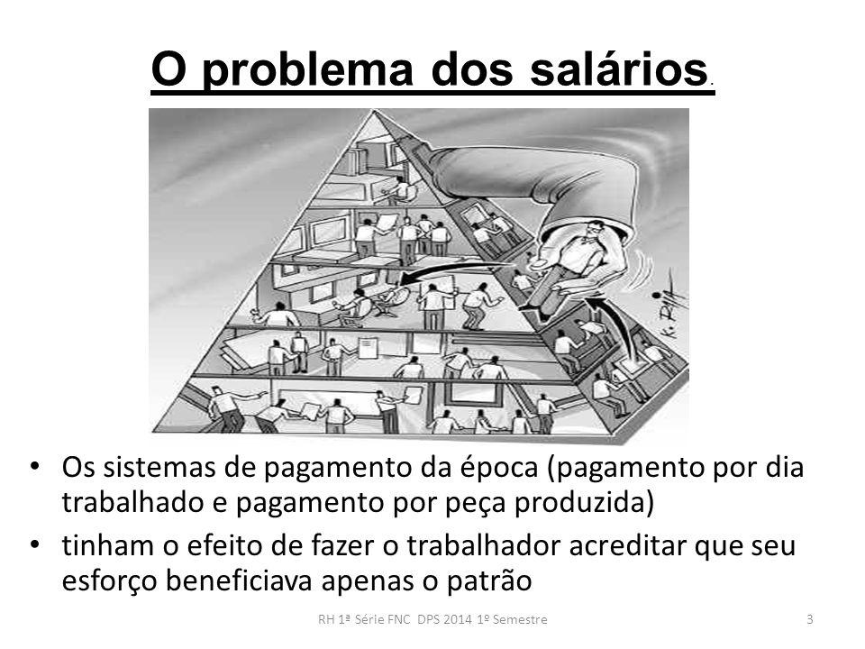 O problema dos salários.
