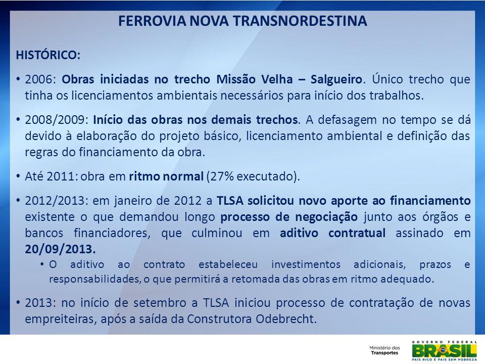 FERROVIA NOVA TRANSNORDESTINA