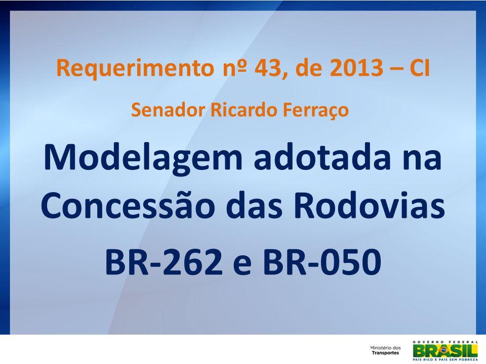Senador Ricardo Ferraço Modelagem adotada na Concessão das Rodovias