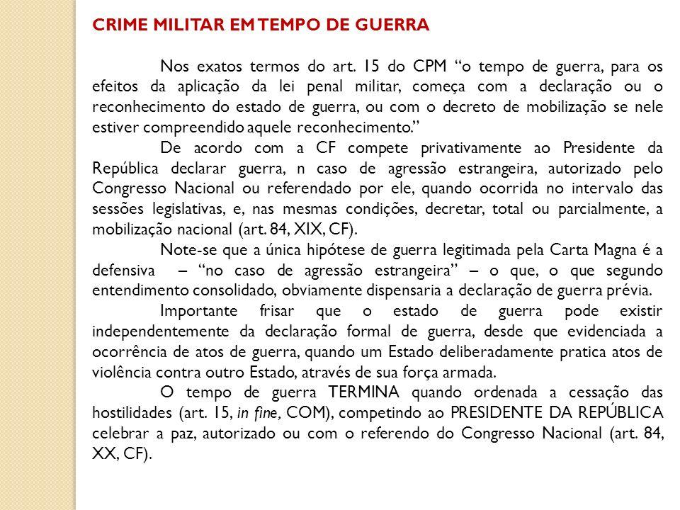 CRIME MILITAR EM TEMPO DE GUERRA