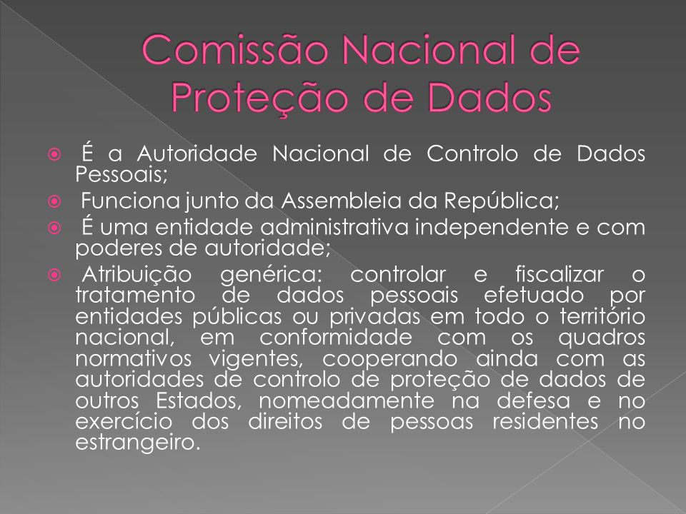 Comissão Nacional de Proteção de Dados