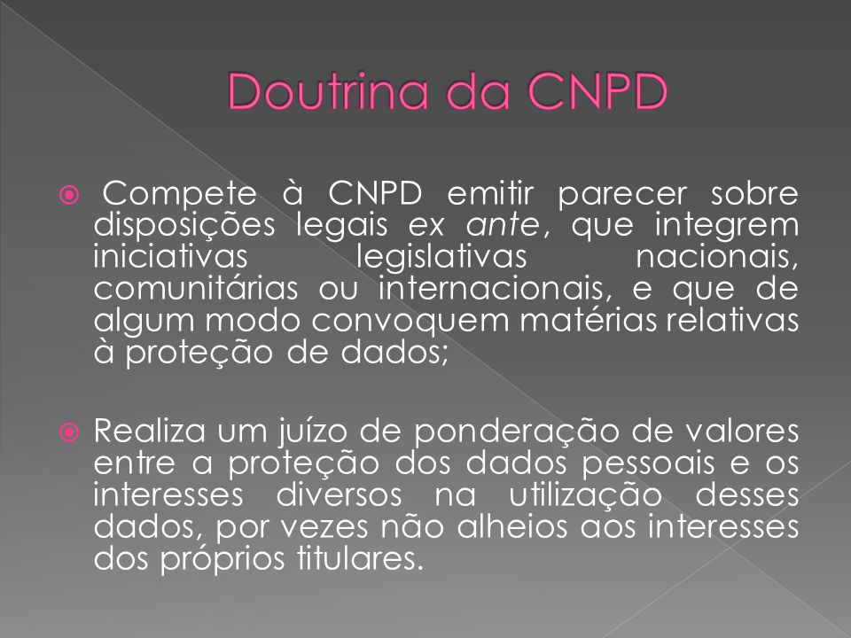 Doutrina da CNPD