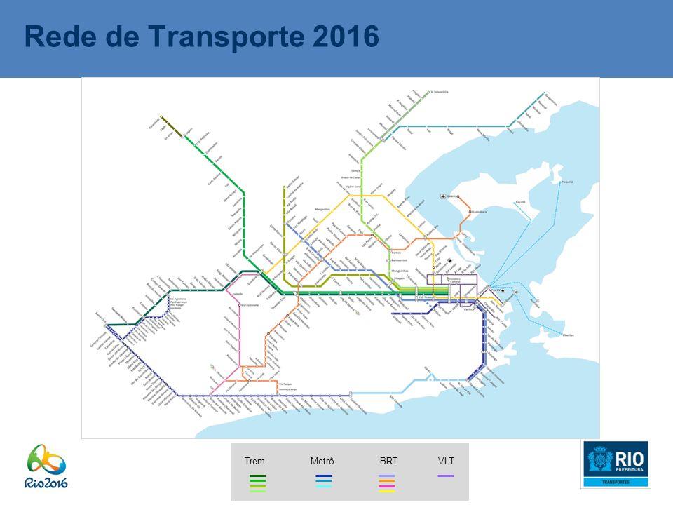 Rede de Transporte 2016 Trem Metrô BRT VLT