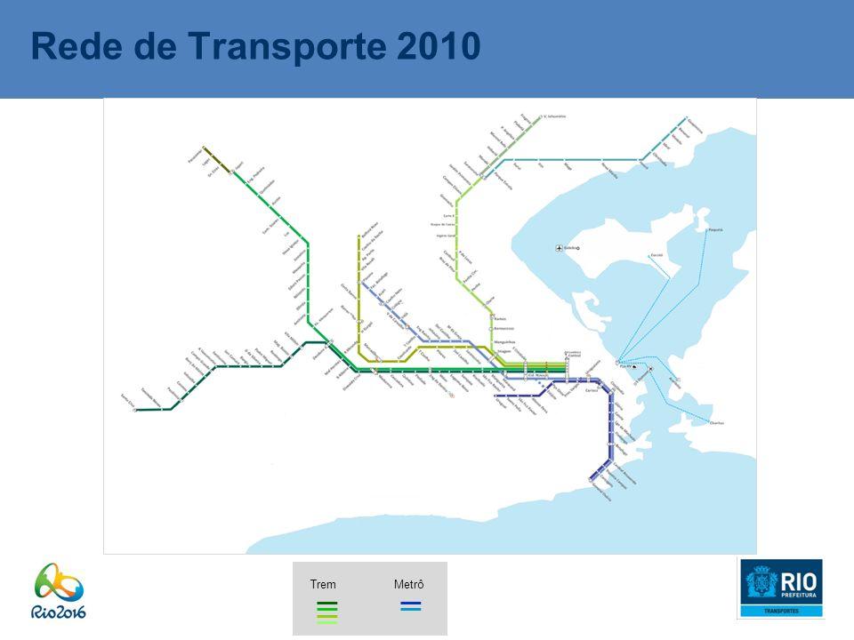 Rede de Transporte 2010 Trem Metrô