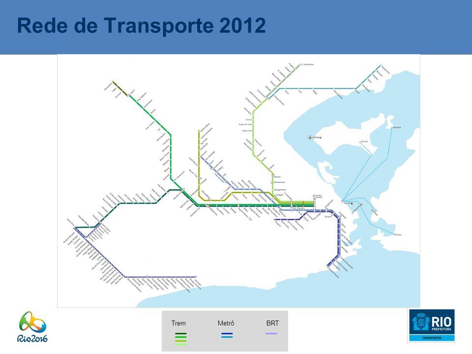 Rede de Transporte 2012 Trem Metrô BRT
