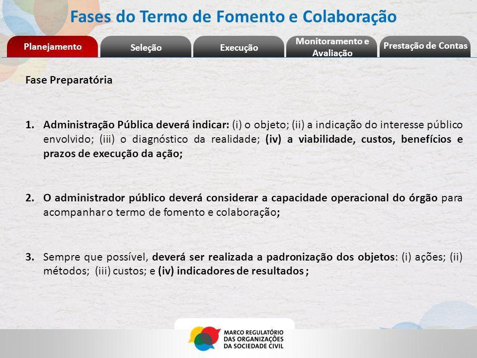 Fases do Termo de Fomento e Colaboração Monitoramento e Avaliação