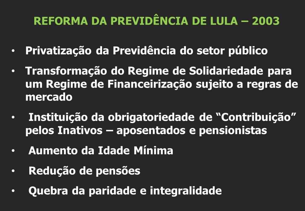 REFORMA DA PREVIDÊNCIA DE LULA – 2003