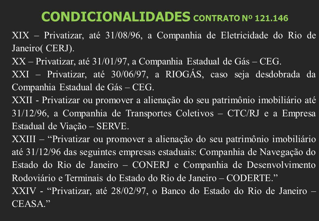 CONDICIONALIDADES CONTRATO Nº 121.146