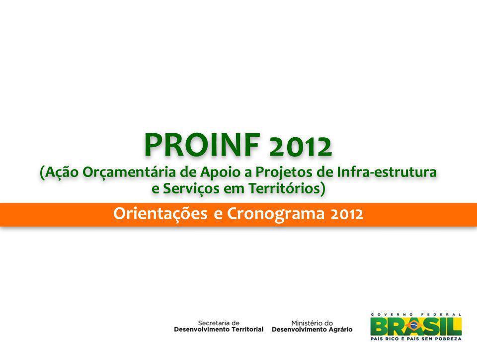 PROINF 2012 Orientações e Cronograma 2012