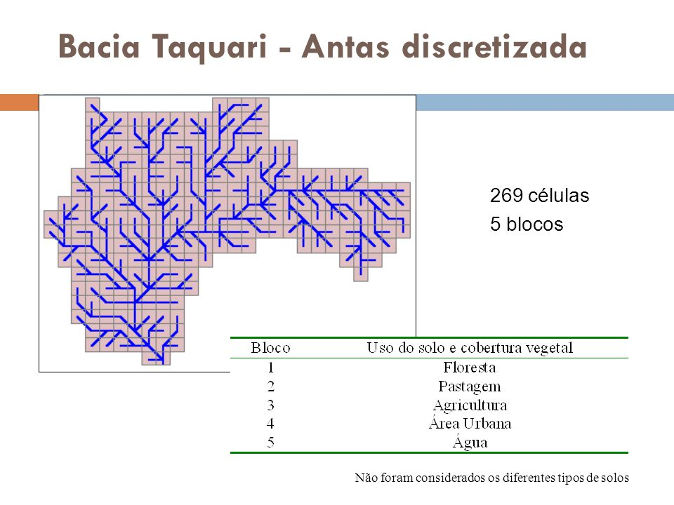 Bacia Taquari - Antas discretizada