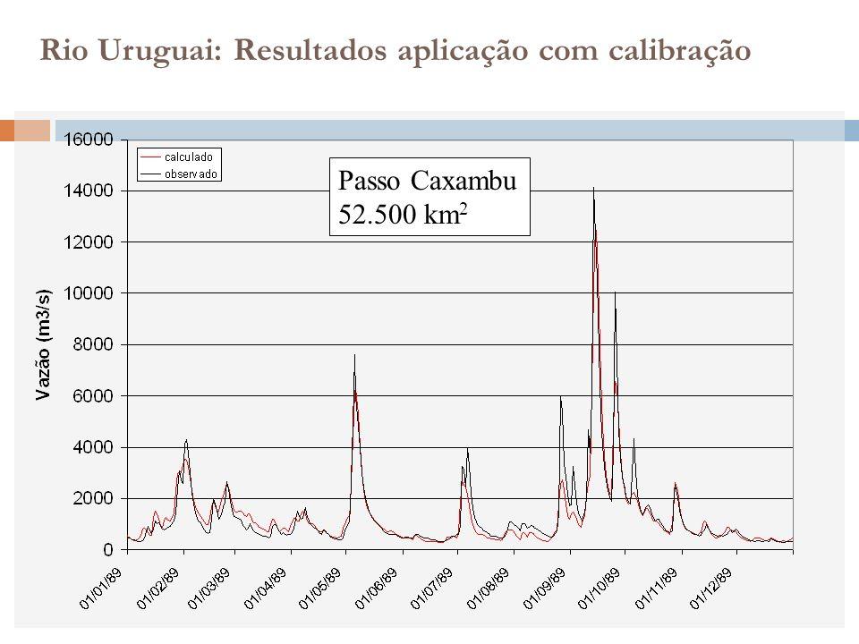 Rio Uruguai: Resultados aplicação com calibração