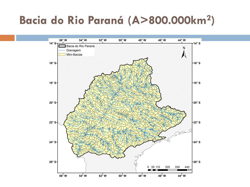 Bacia do Rio Paraná (A>800.000km2)