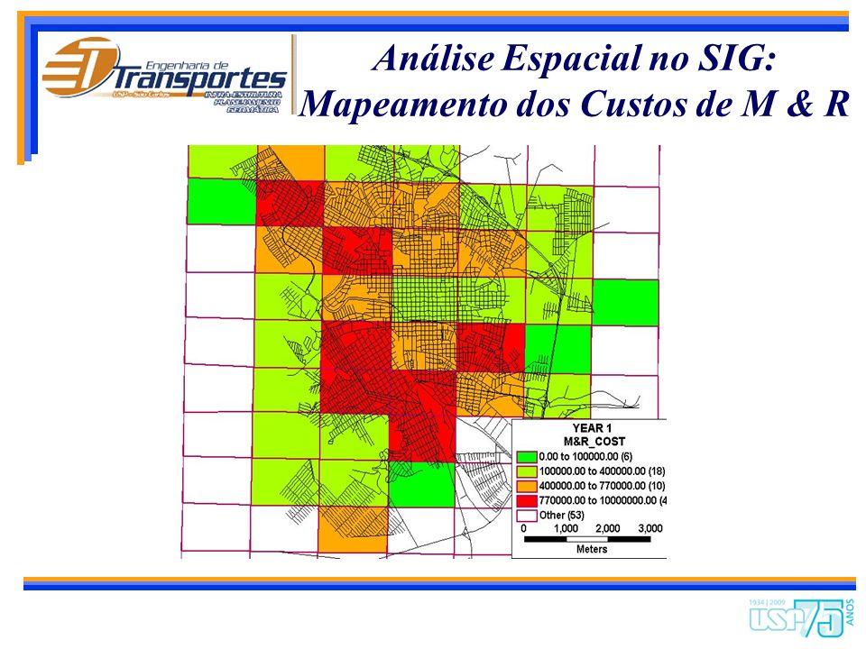 Análise Espacial no SIG: Mapeamento dos Custos de M & R