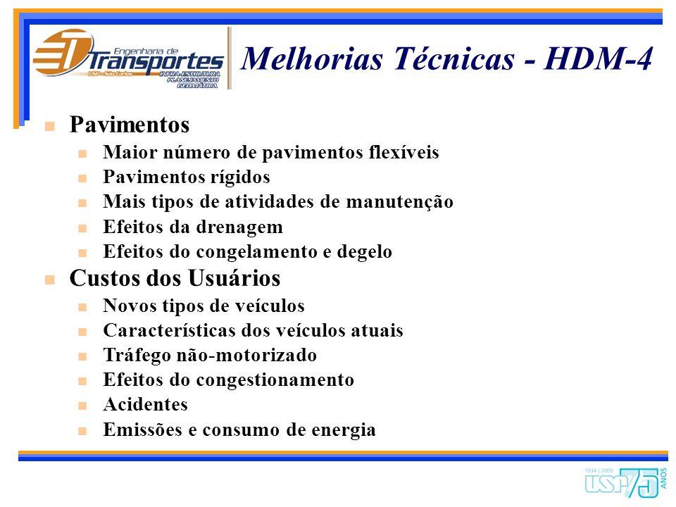 Melhorias Técnicas - HDM-4