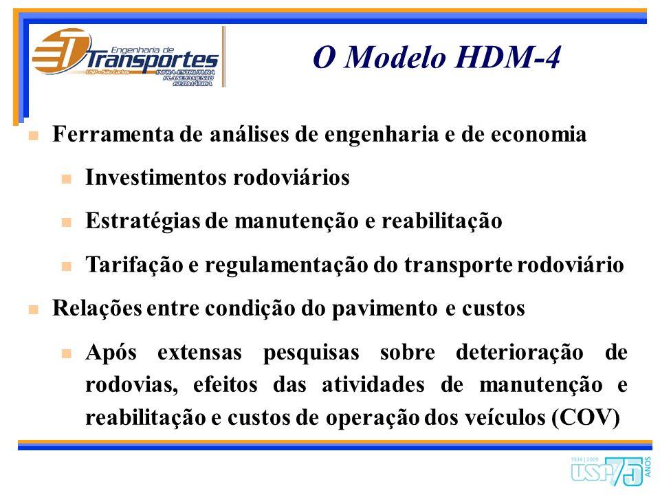 O Modelo HDM-4 Ferramenta de análises de engenharia e de economia