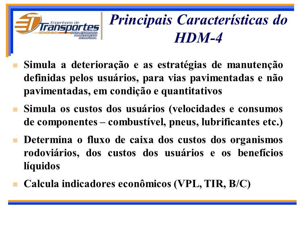 Principais Características do HDM-4