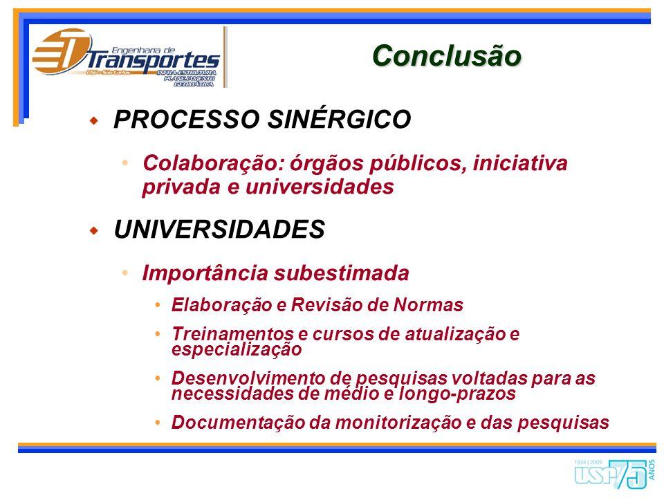 Conclusão PROCESSO SINÉRGICO UNIVERSIDADES