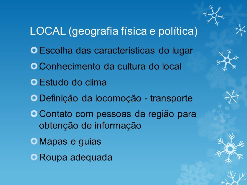 LOCAL (geografia física e política)