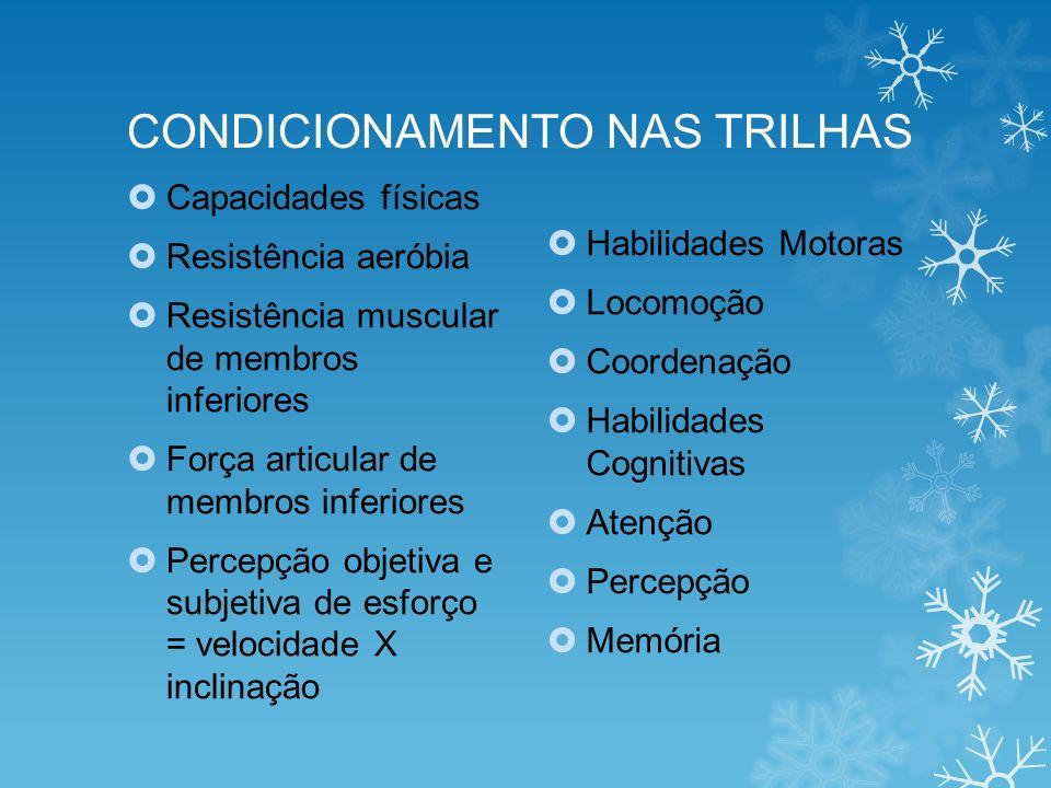 CONDICIONAMENTO NAS TRILHAS