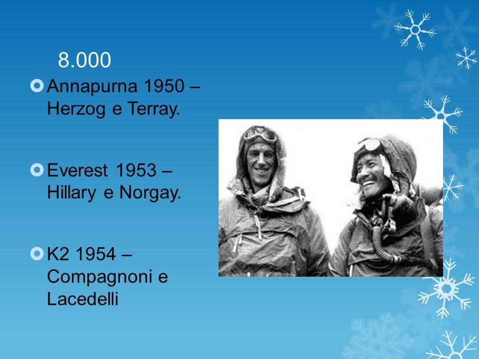 8.000 Annapurna 1950 – Herzog e Terray.