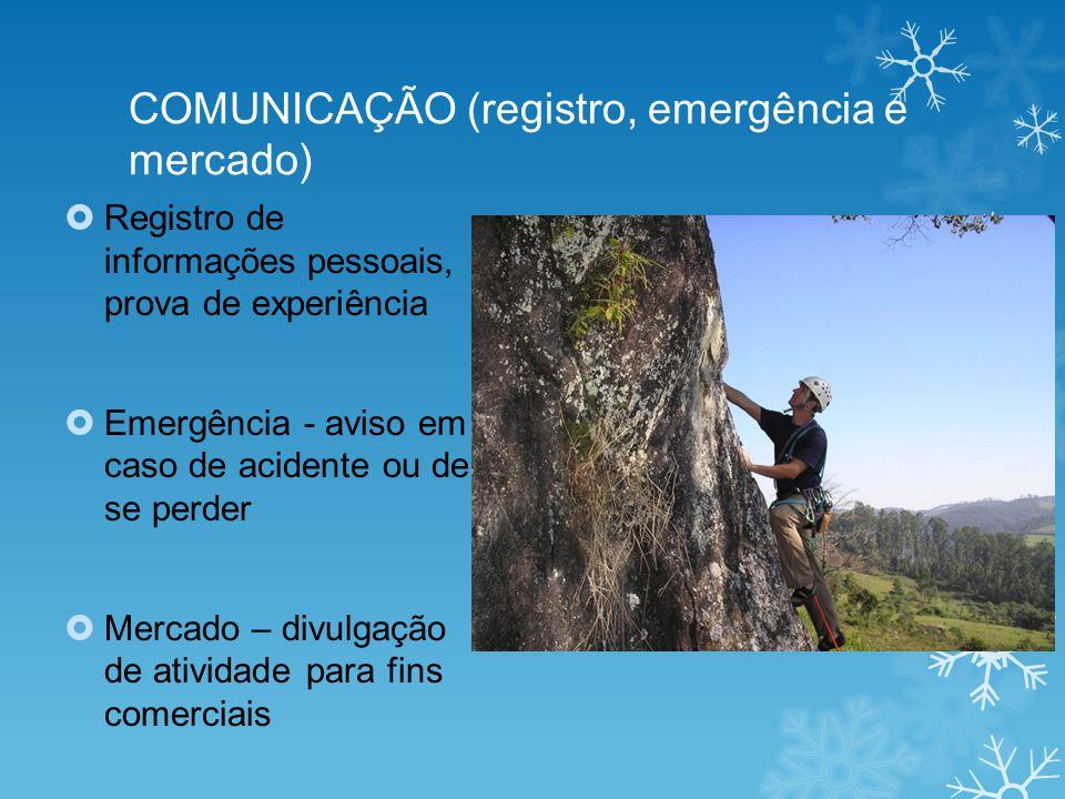 COMUNICAÇÃO (registro, emergência e mercado)